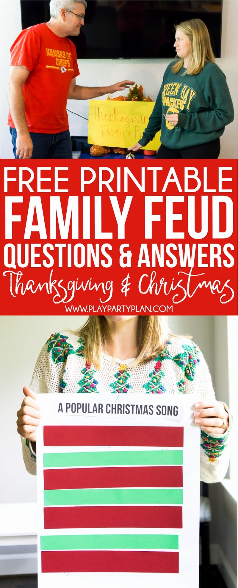 Bible Family Feud Questions Elegant Free Holiday Family Feud Game Thanksgiving & Christmas