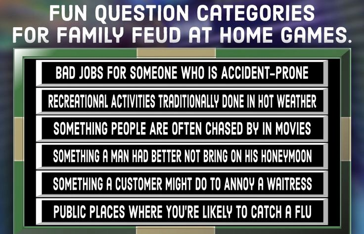 Bible Family Feud Questions Fresh Family Feud Quiz Free Questions and Answers