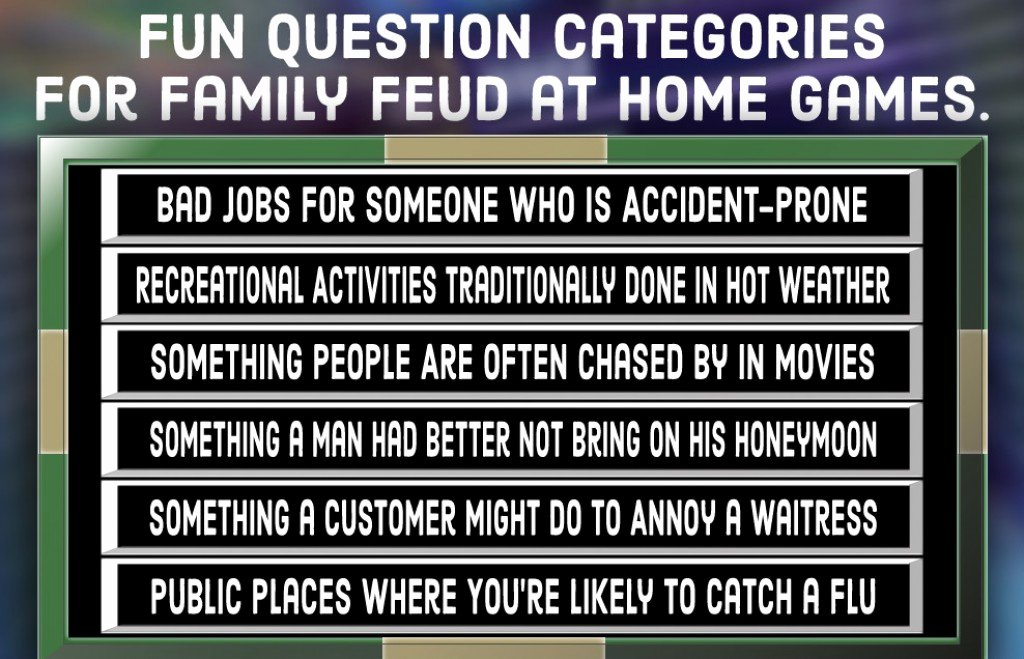Bible Family Feud Questions Lovely Family Feud Quiz Free Questions and Answers