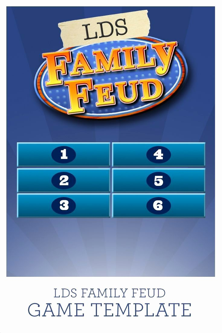 Bible Family Feud Questions Luxury Use This Lds Family Feud Game Template with 38 Questions