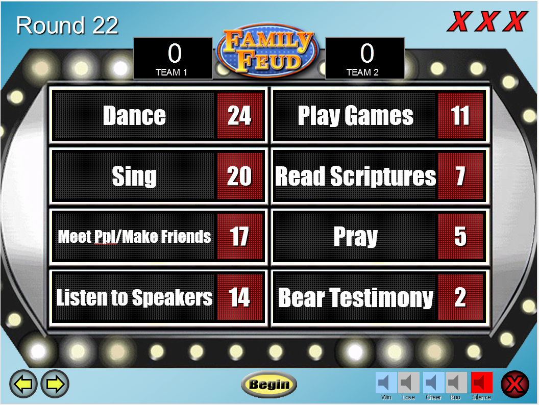 Bible Family Feud Questions Unique Lds Family Feud Game Template Prospering Families