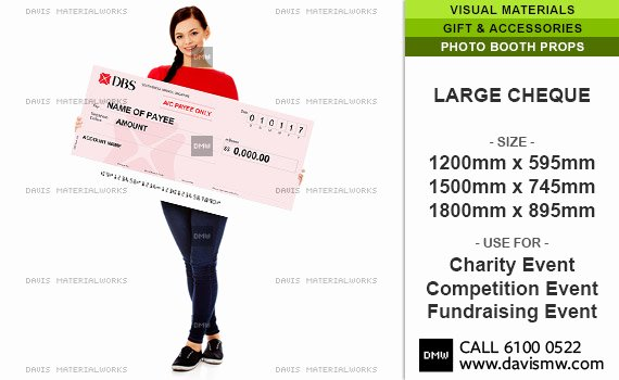 Big Fake Check Template Luxury Cheque Mock Cheque Oversized Cheque Giant Cheque