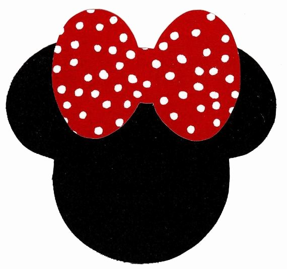 Big Minnie Mouse Bow Awesome Minnie Mouse Applique with Big Bow Iron On Diy by