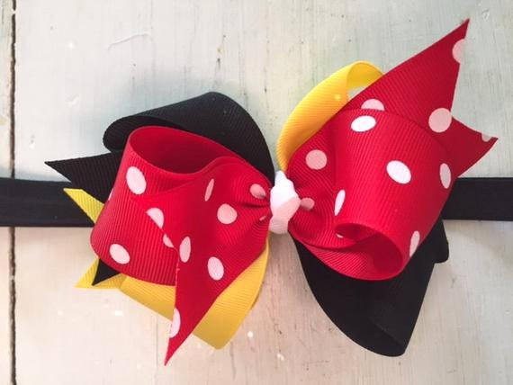 Big Minnie Mouse Bow Best Of Minnie Mouse Bow Headband Minnie Mouse Inspired Hair