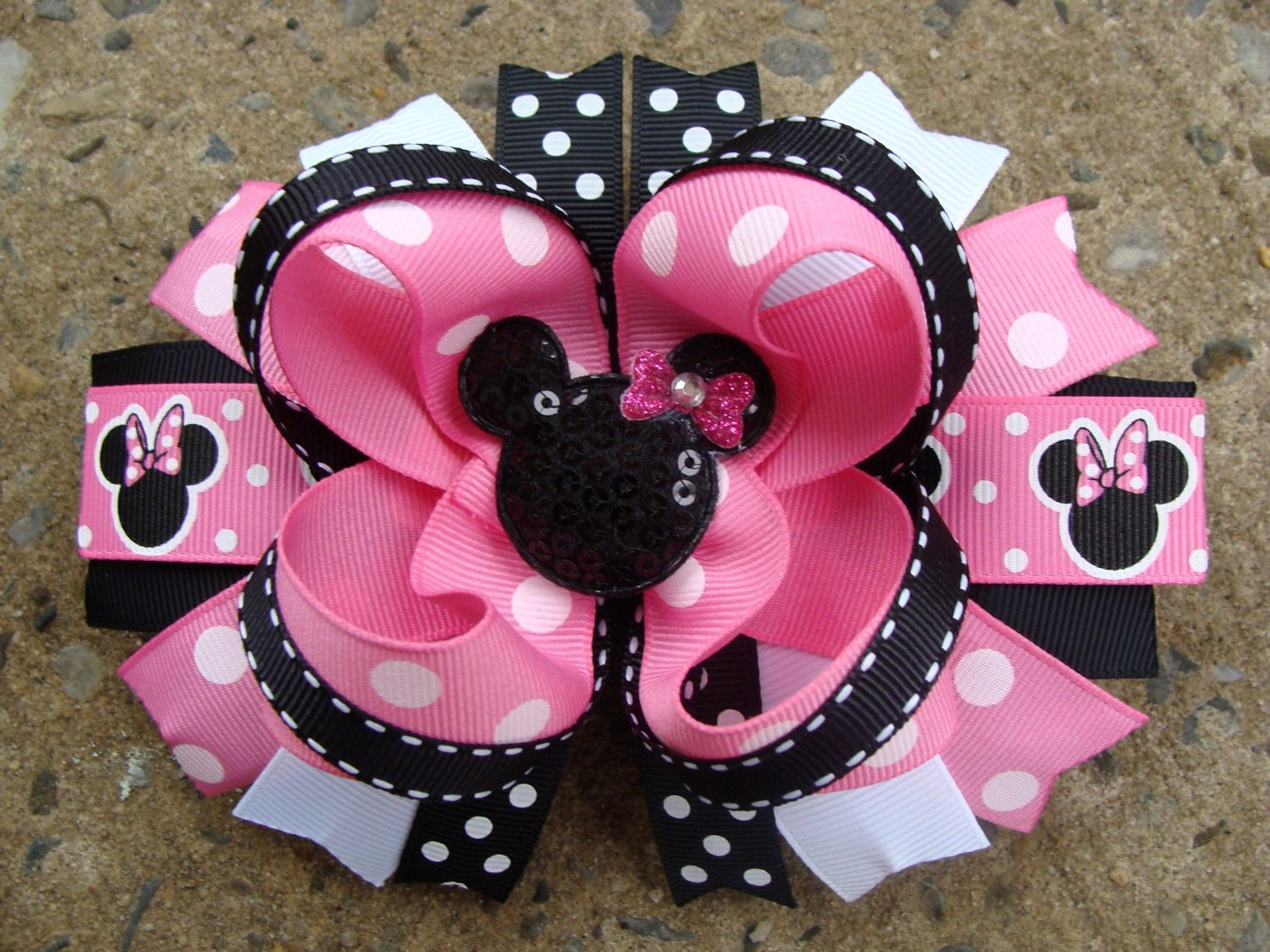 Big Minnie Mouse Bow Best Of Minnie Mouse Hair Bow Hair Bow Pink and by