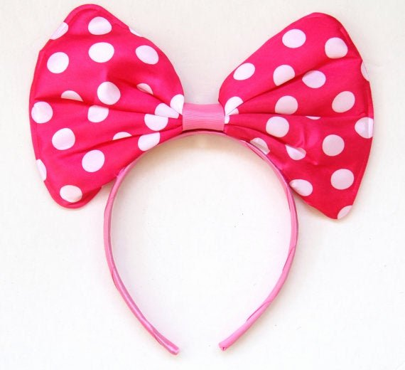 Big Minnie Mouse Bow Elegant Big Minnie Mouse Bow Headband
