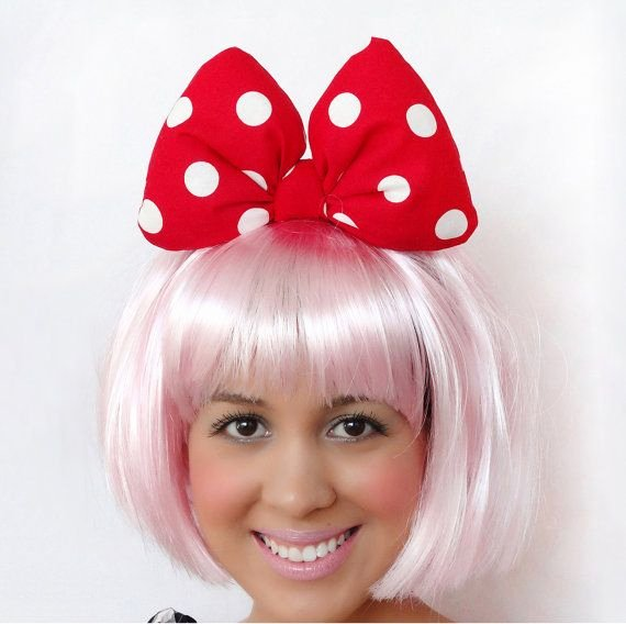 Big Minnie Mouse Bow Elegant Minnie Mouse Bow Big Headband Clip Minnie Mouse Ears Red