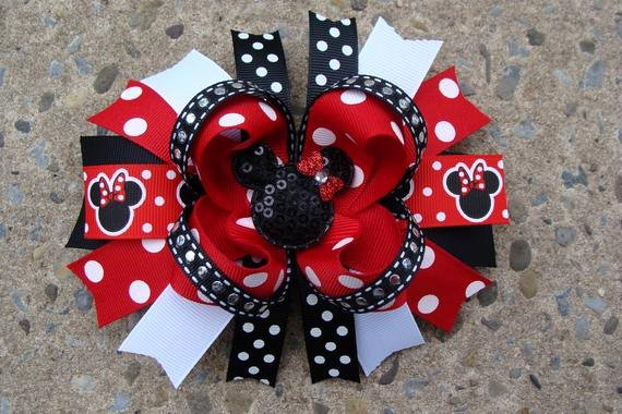 Big Minnie Mouse Bow Fresh Mouse Hair Bow Boutique Hair Bow Large Hair Bow Boutique
