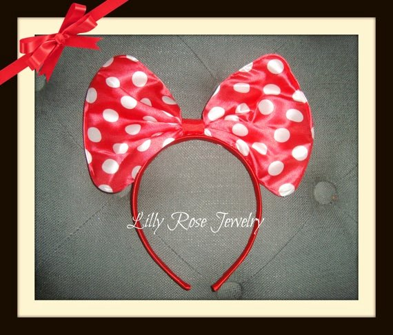 Big Minnie Mouse Bow Fresh Red Polka Dot Minnie Mouse Inspired Big Bow by