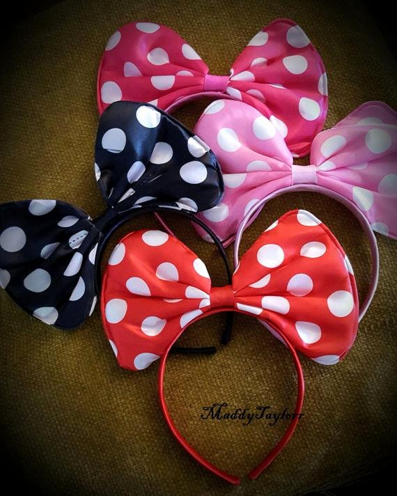 Big Minnie Mouse Bow Inspirational Minnie Mouse Bow Headband Minnie Bow Headband Big Minnie