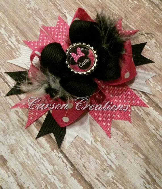 Big Minnie Mouse Bow Inspirational Minnie Mouse Inspired Bow Big Sister Little by