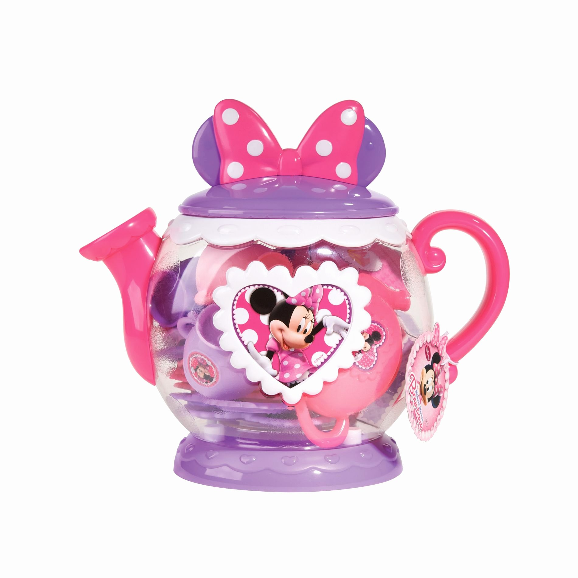 Big Minnie Mouse Bow Lovely Disney Teapot Play Set Minnie Mouse Bow Tique Lavender