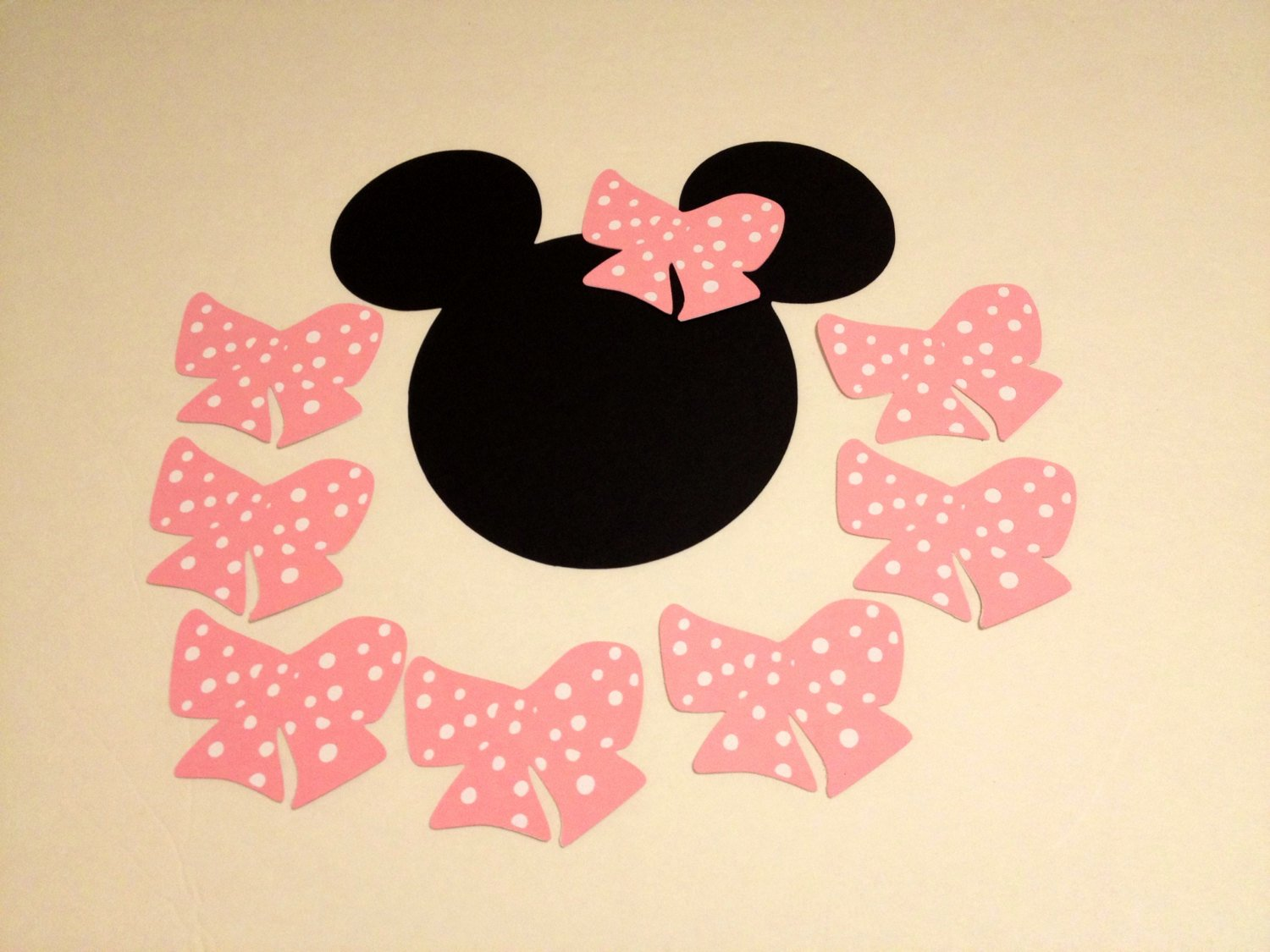 Big Minnie Mouse Bow New Pin the Bow On Minnie Mouse Set Of 16 Polka Dot Bows
