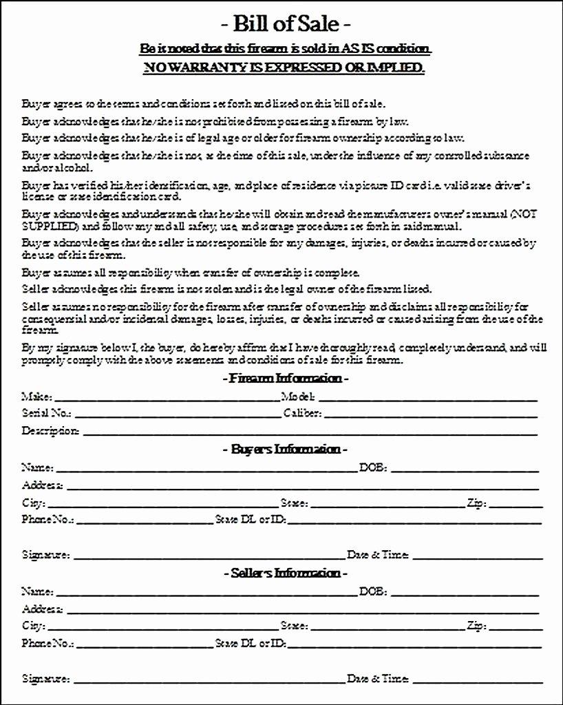 Bill Of Sale Firearms Inspirational Firearm Bill Of Sale Integrated Close Bat forum