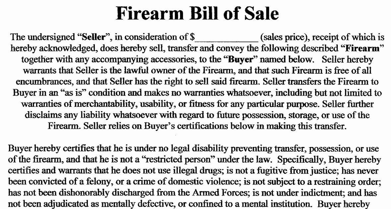 Bill Of Sale Firearms Luxury Utah Concealed Carry Permit Sample Firearm Bill Of Sale