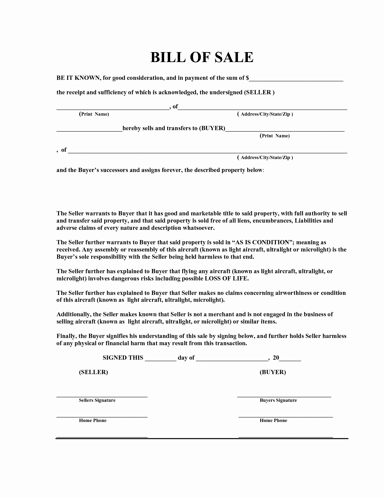 Bill Of Sale Printable Template Unique Free Bill Of Sale Template Pdf by Marymenti as is Bill