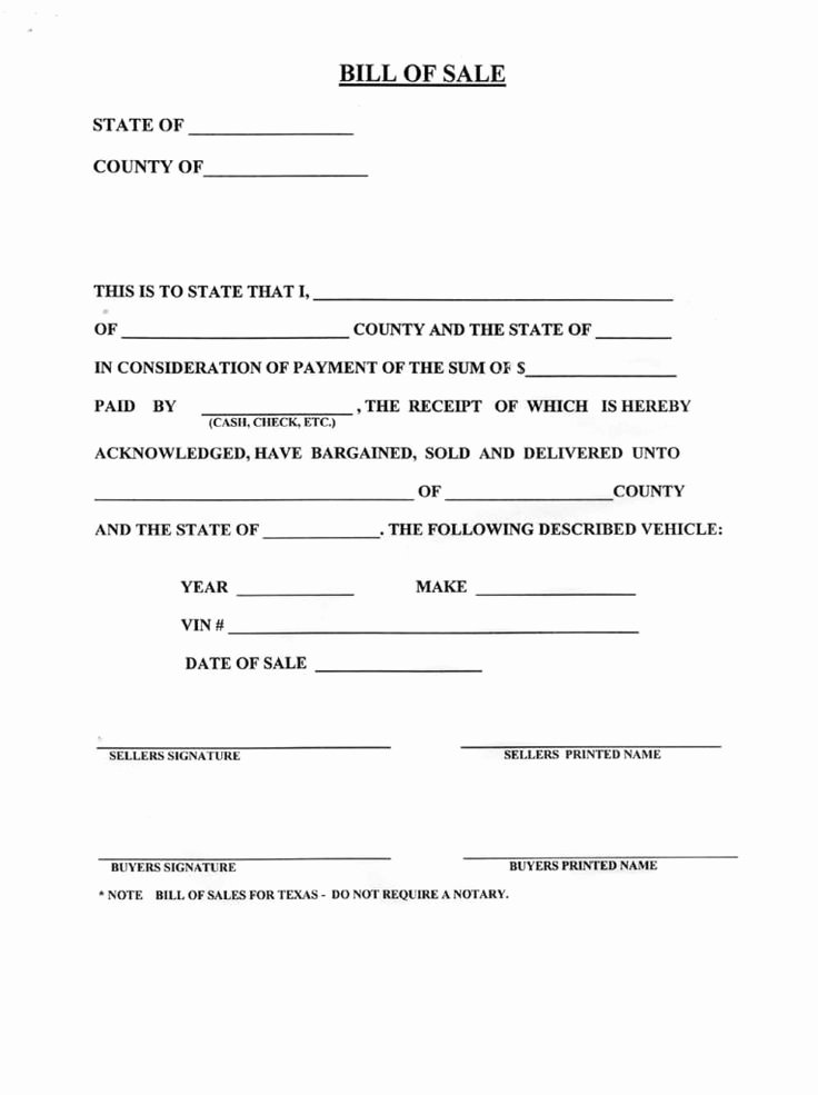 Bill Of Sale Vehicle Beautiful Blank Bill Sale for A Car form Download How