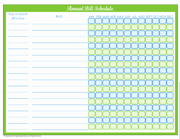 Bill Pay Spreadsheet Template Fresh Bill Payment Schedule Editable Version organizing Homelife