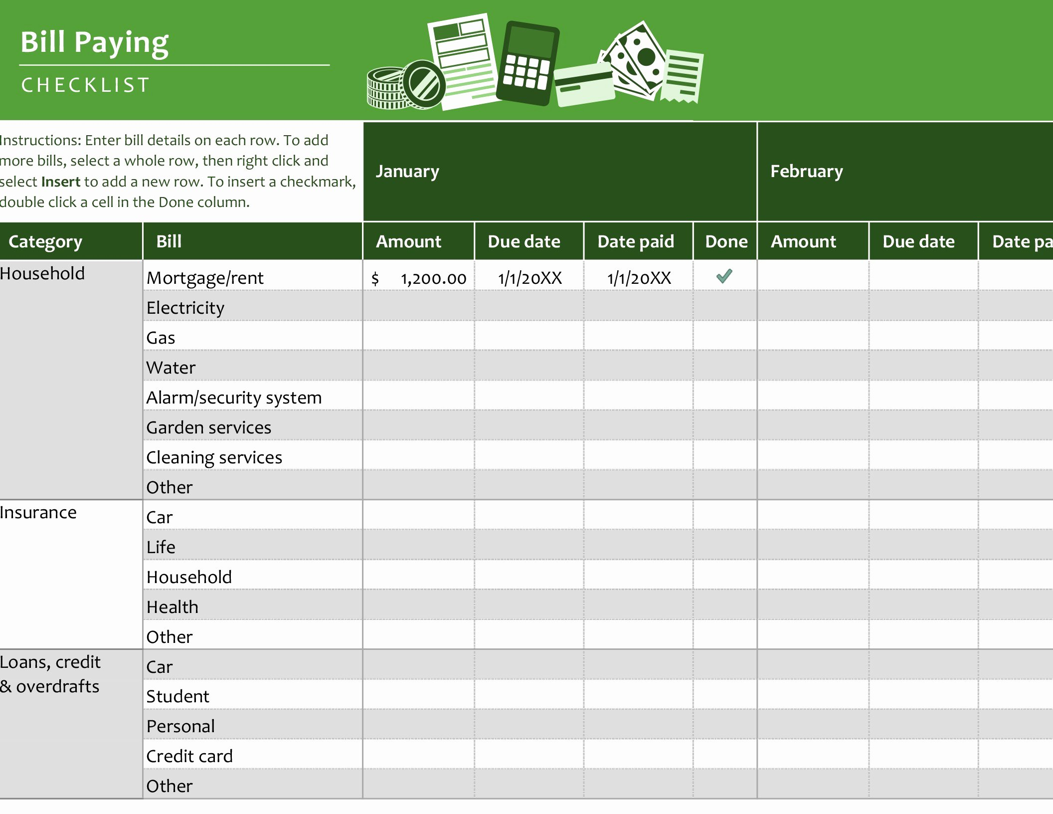 Bill Pay Spreadsheet Template Lovely Lists Fice