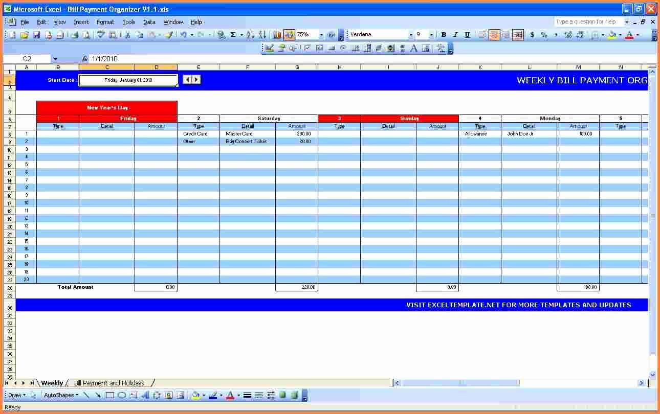Bill Pay Spreadsheet Template New 8 Payment Spreadsheet Template