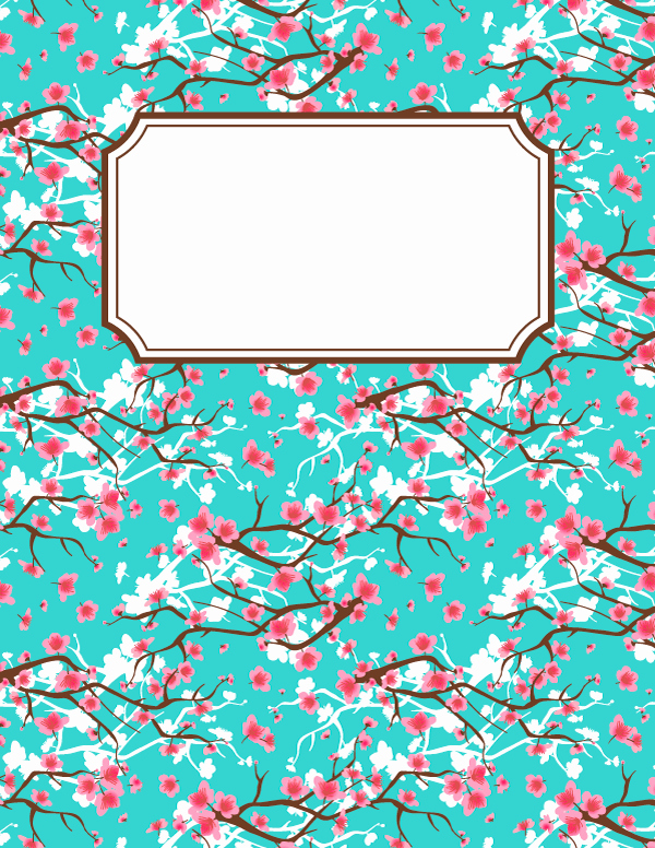 Binder Cover Templates Word Lovely Free Printable Cherry Blossom Binder Cover Template