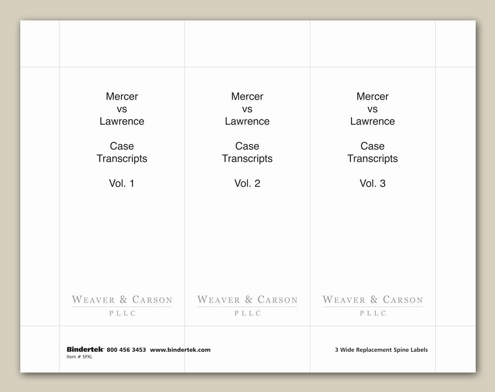 "Binder Label Template Free New Insertable Spine Labels for 4"" Wide Binders"