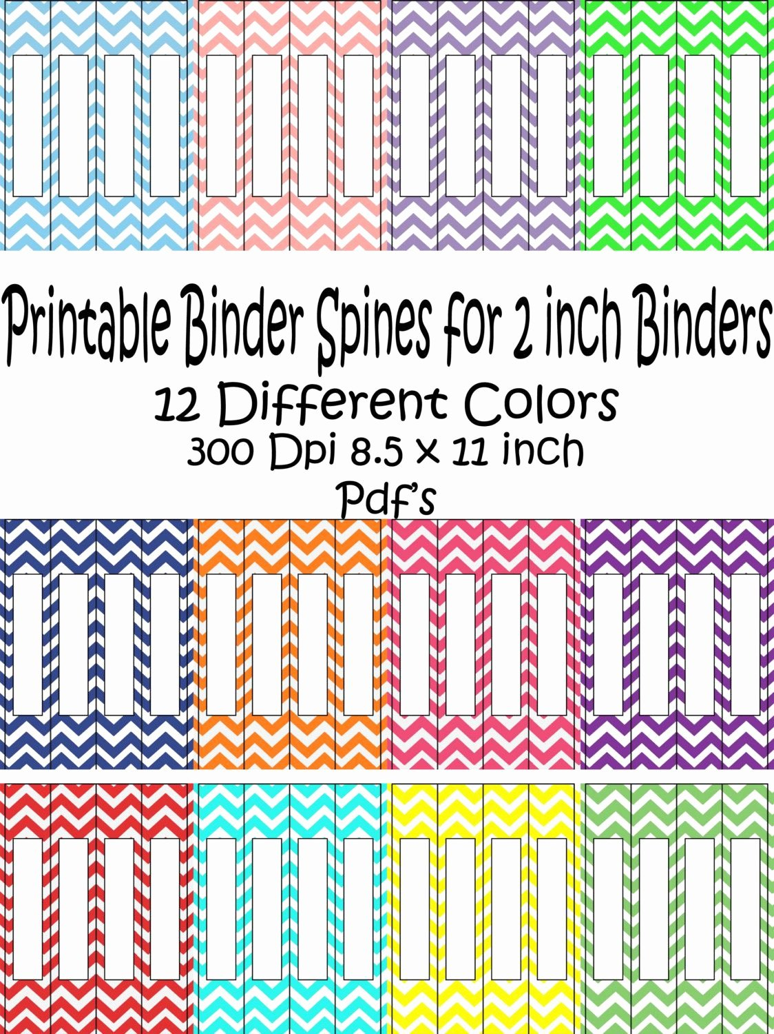Binder Label Template Free Unique Printable Binder Spine Pack Size 2 Inch 12 Different