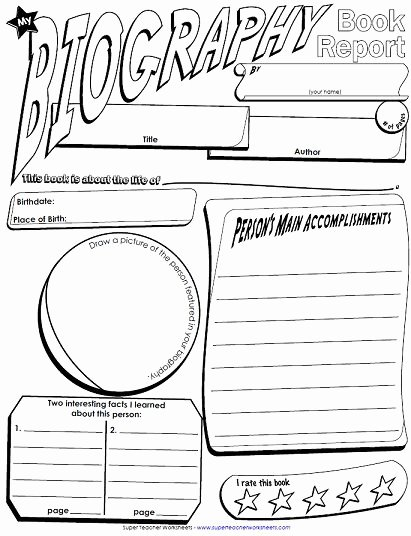 Biography Template for Students Awesome We Have Added Another Book Report Poster to Our Collection
