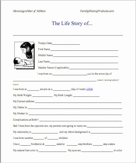 Biography Template for Students Beautiful Best S Of Short Printable Autobiographies