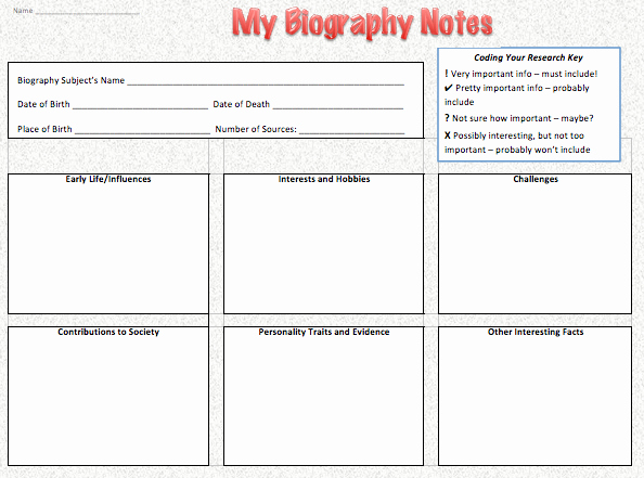 Biography Template for Students Beautiful Get Inspired with Biography Research Part 2 — Project