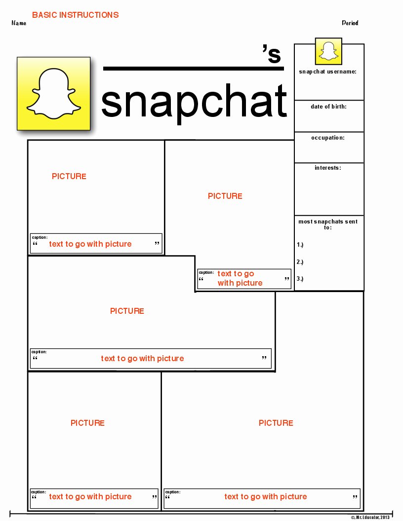 Biography Template for Students Fresh social Media Biographies Twitter Snapchat and