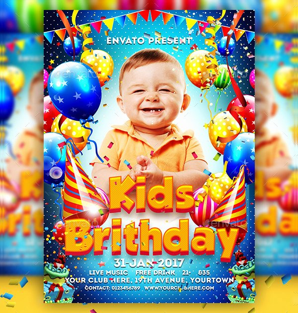Birthday Flyer Templates Free Awesome 33 Birthday Flyer Templates Free & Premium Download