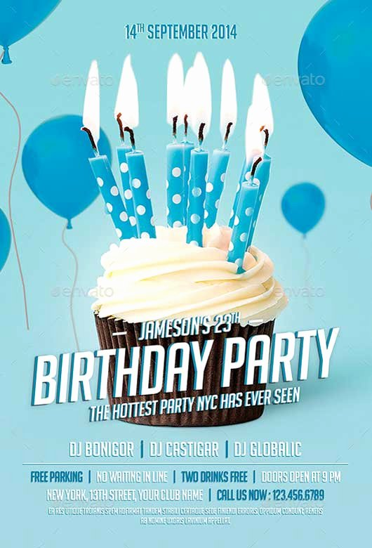 Birthday Flyer Templates Free Awesome Best Of Birthday Flyer Templates Free and Premium Flyer