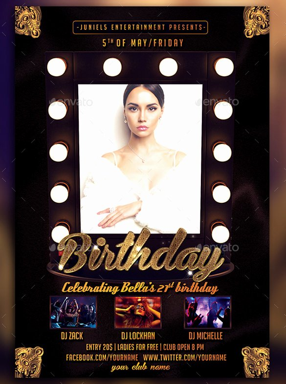 Birthday Flyer Templates Free Awesome Microsoft Birthday Party Flyer Templatesdownload Free