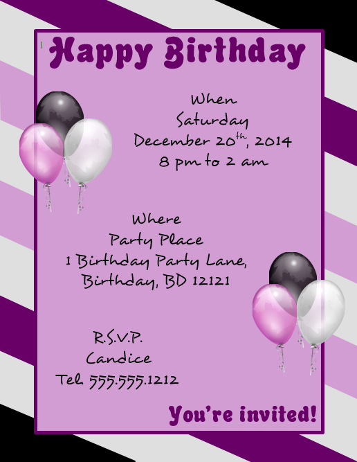 Birthday Flyer Templates Free Beautiful Download A Microsoft Word Template for A Happy Birthday