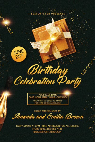 Birthday Flyer Templates Free Best Of Birthday Celebration Free Flyer and Poster Template for