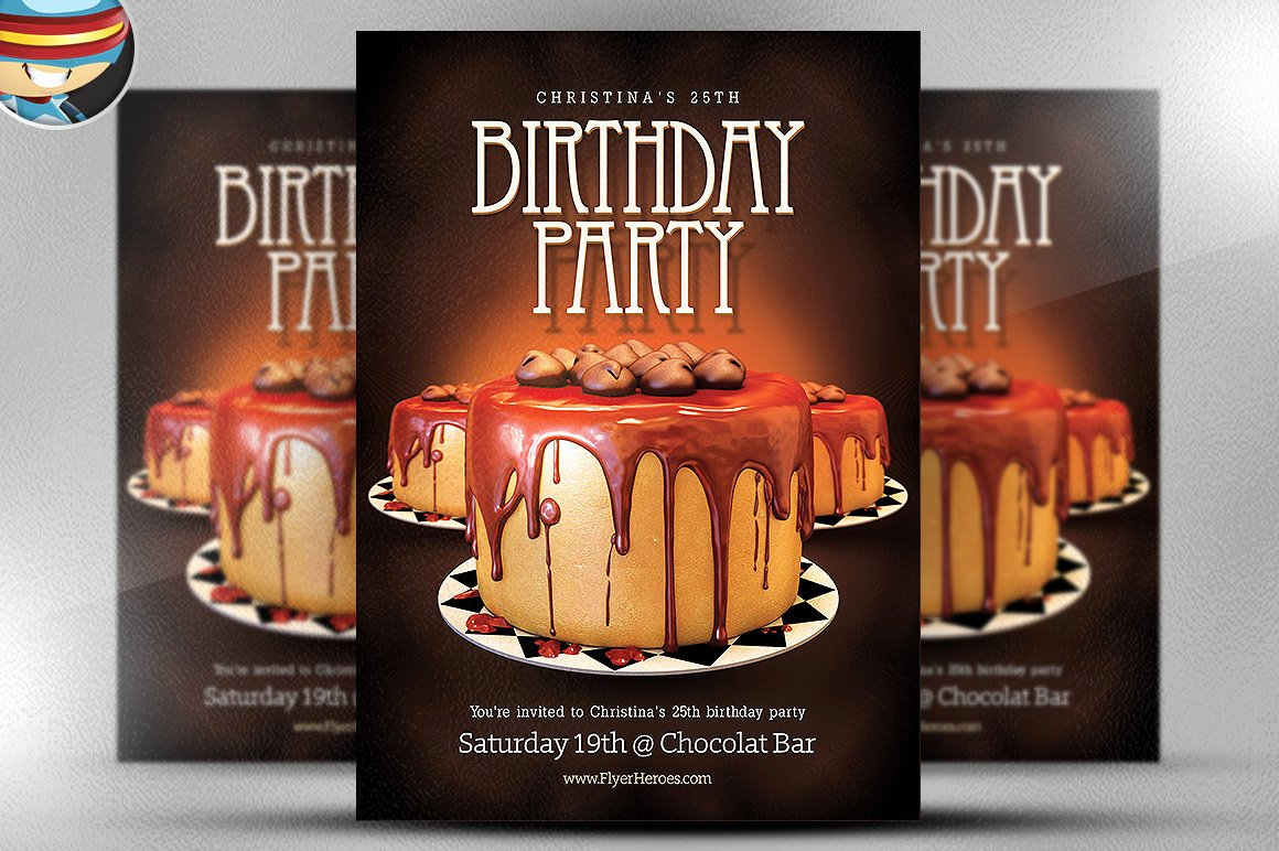 Birthday Flyer Templates Free Best Of Birthday Flyer Template Flyer Templates On Creative Market