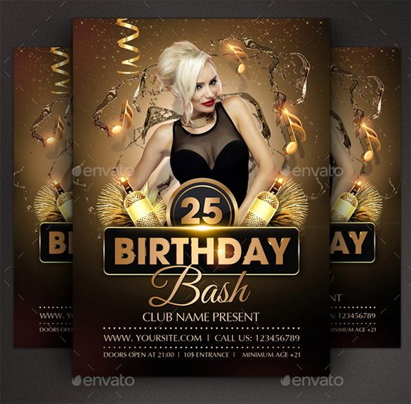 Birthday Flyer Templates Free Elegant 22 Amazing Birthday Party Psd Flyer Templates Word