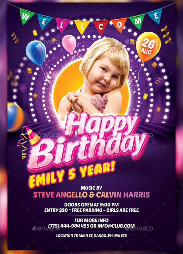 Birthday Flyer Templates Free Elegant Spectacular Birthday Flyer Template 30 Download