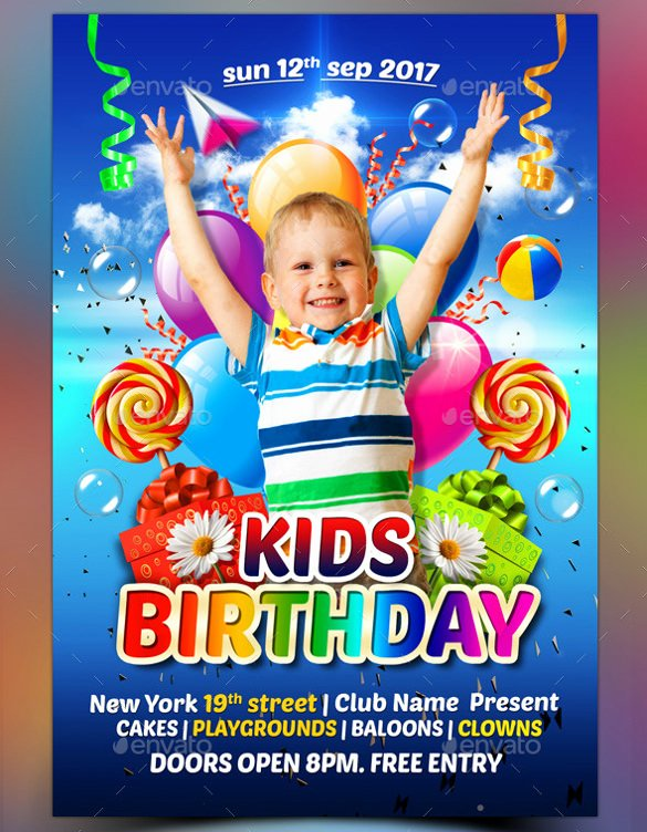Birthday Flyer Templates Free Fresh 34 Birthday Flyer Templates Word Psd Ai Indesign