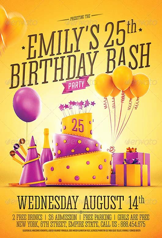 Birthday Flyer Templates Free Fresh Best Of Birthday Flyer Templates Free and Premium Flyer