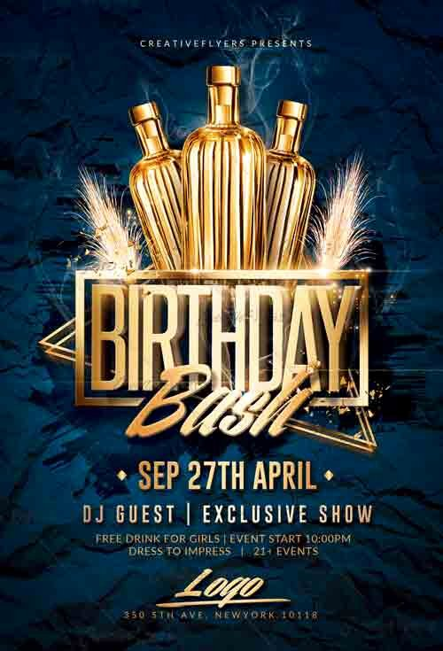 Birthday Flyer Templates Free Inspirational Birthday Bash Flyer Psd Templates Creativeflyers