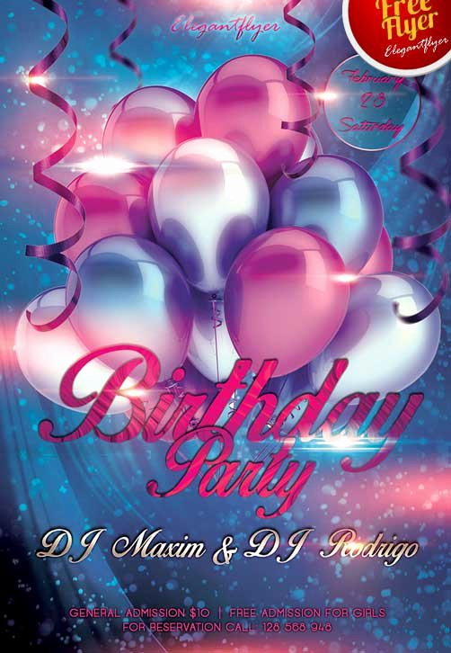 Birthday Flyer Templates Free New Download Free Birthday Party Club Flyer Psd Template