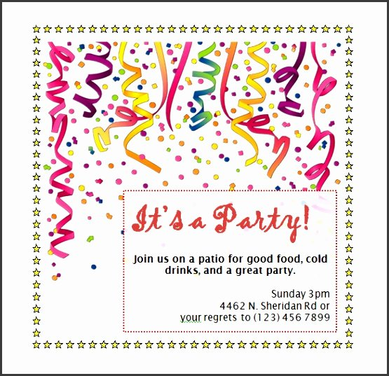 Birthday Party Template Word Awesome 8 Birthday Invitation Template Word Sampletemplatess