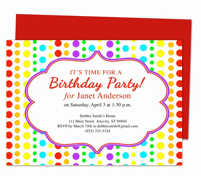 Birthday Party Template Word Awesome Birthday Invite Template