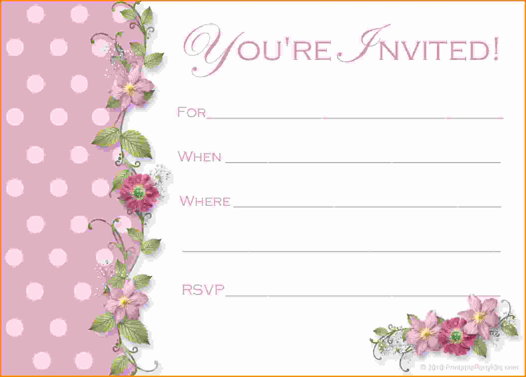 Birthday Party Template Word Awesome Free Party Invitation Templates Word