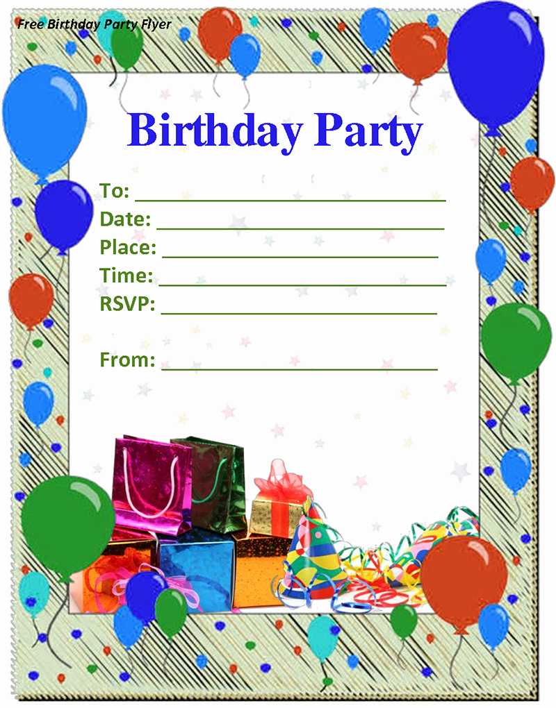 Birthday Party Template Word Elegant Birthday Invitation Template Free Download