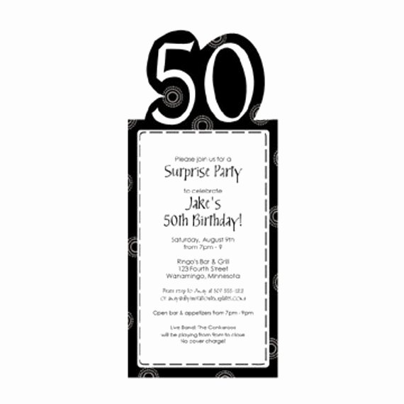 Birthday Party Template Word Luxury 50th Birthday Party Invitation Template by Loveandpartypaper