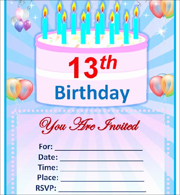 Birthday Party Template Word Luxury Free Birthday Invitation Templates for Word