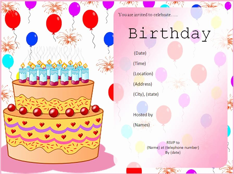 Birthday Party Template Word New 10 Free Birthday Invitation Templates